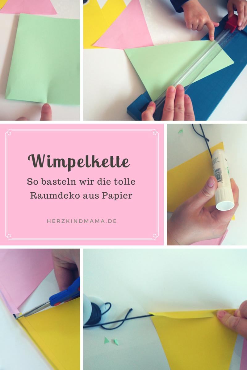 Wimpel Girlande Aus Papier Diy Leicht Herzkindmama Deherzkindmama De