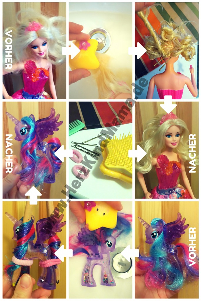 Barbie und Pony Haare frisieren