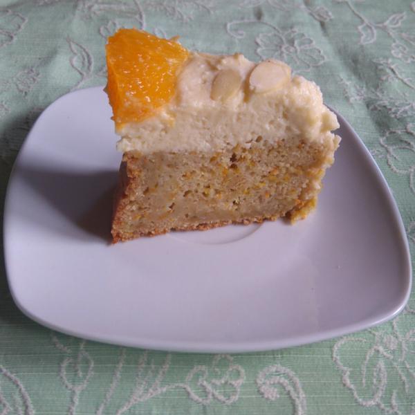vegane Mango-Organgen-Torte