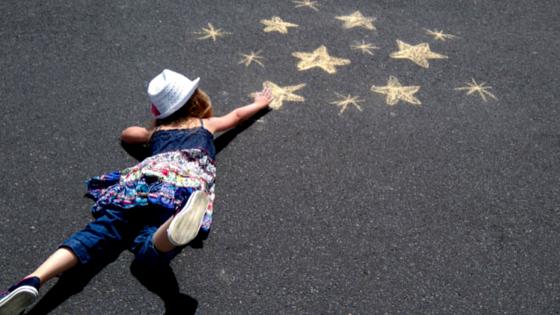 Kreide Fotos Sterne