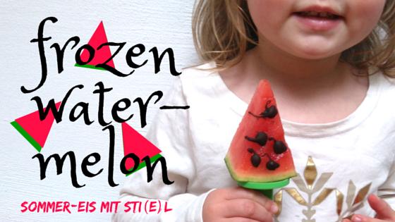 Melonen-Eis am Stiel gefrorene Melone