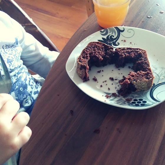 Kuchen nur die Mitte essen