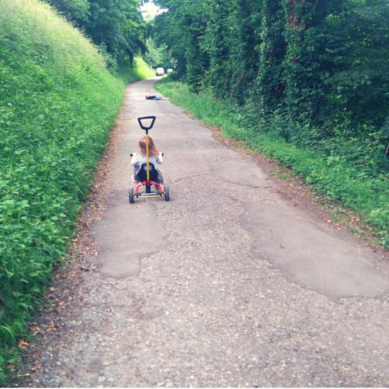 Unterwegs mit Dreirad