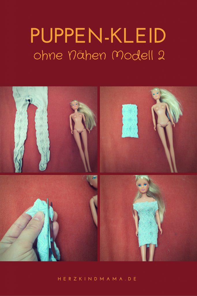 Puppenkleid aus Strumpfhose
