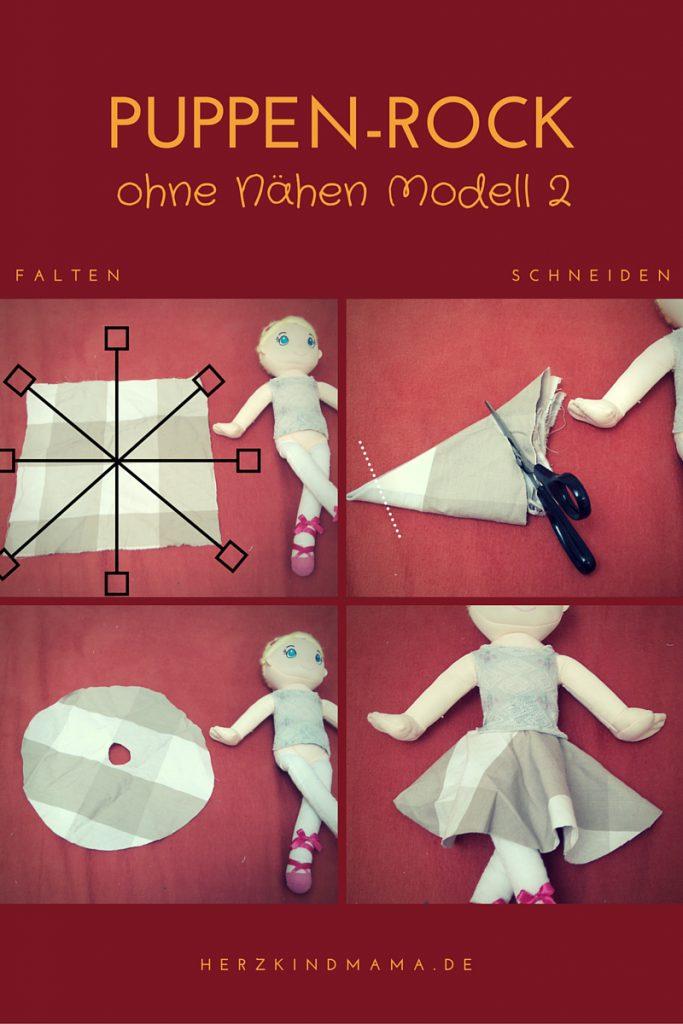 Puppenrock ohne Nähen