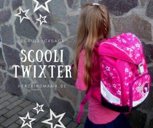 Schulrucksack Scooli Twixter wächst mit 4 teilig höhenverstellbar mit Brustgurt und Hüftgurt