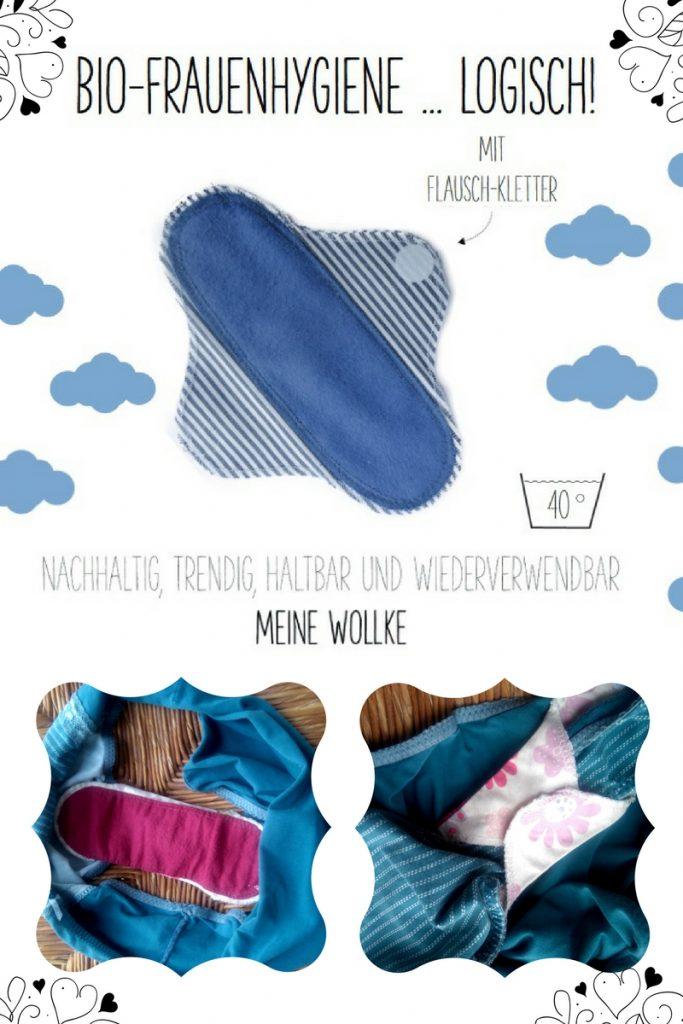Bio-Slipeinlage Meine Wollke waschbar