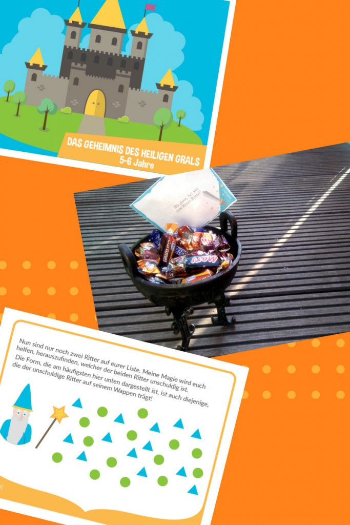 schatzsuche kindergeburtstag zum ausdrucken rätsel spiel kinder schnitzeljagd