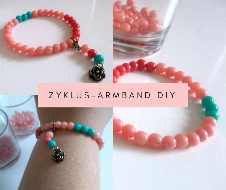 Zyklus-Armband DIY Perlen Menstruation Eisprung