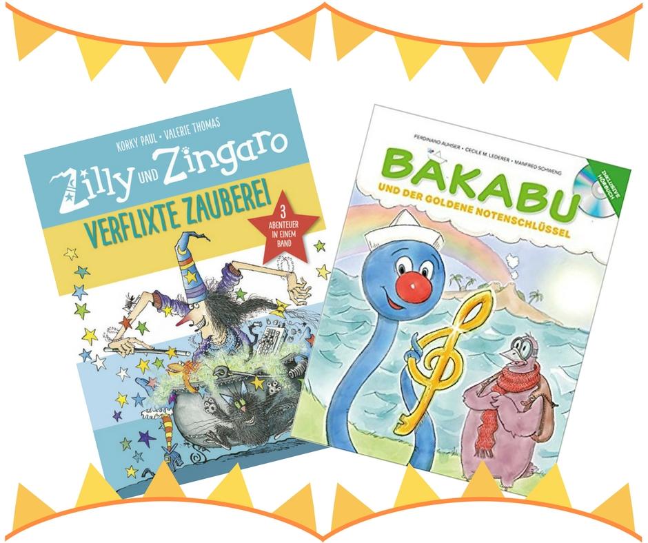 Moderne Hexe Zilly und Zingaro und Bakabu Ohrwurm Kinderbuch
