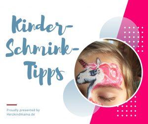 Kinderschminken Tipps beste Farben
