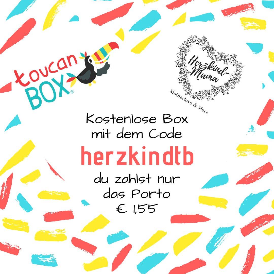 Bastelbox kostenlos testen bestellen Toucan Box Code