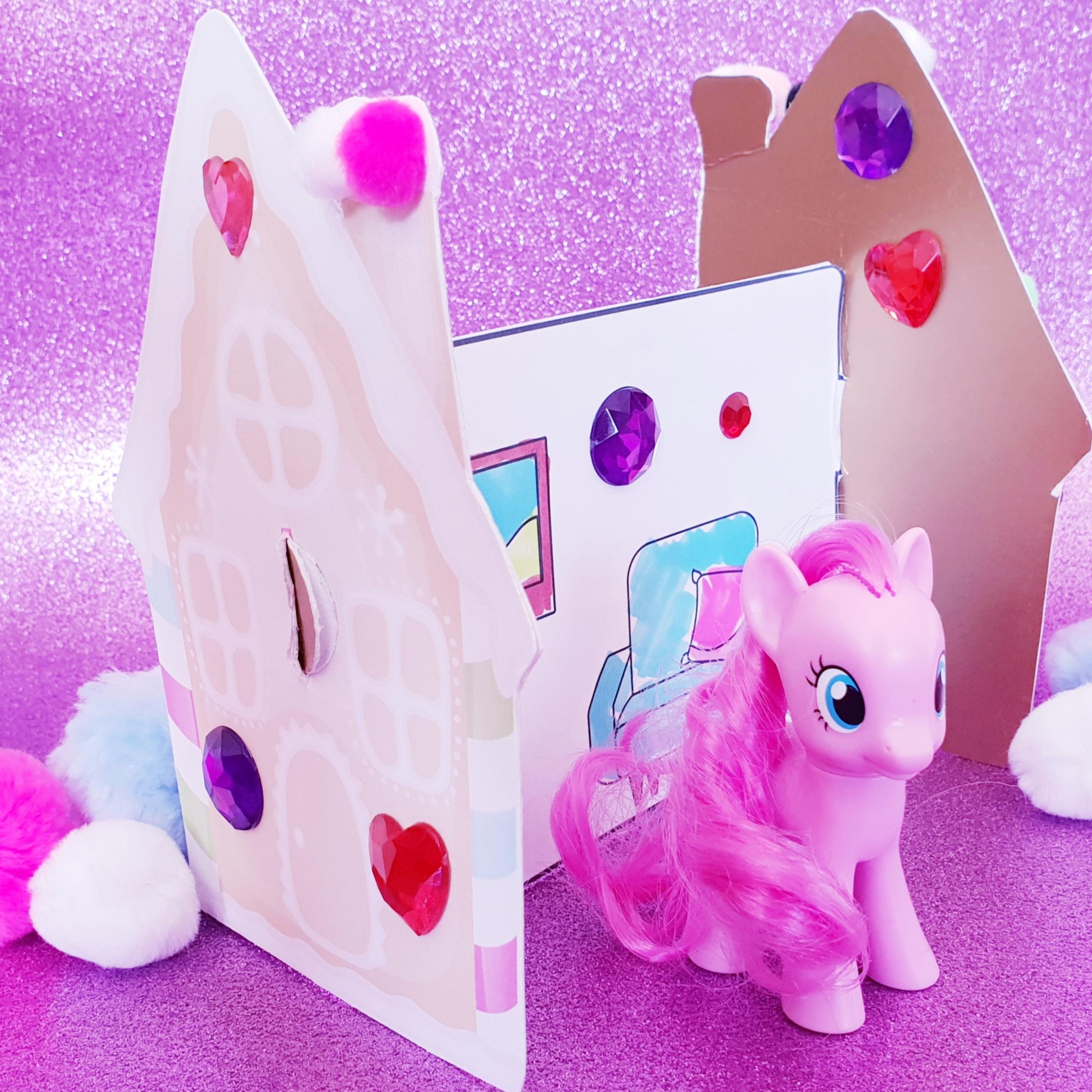 Papierschloss Und Haus Zur My Little Pony Regenbogentour