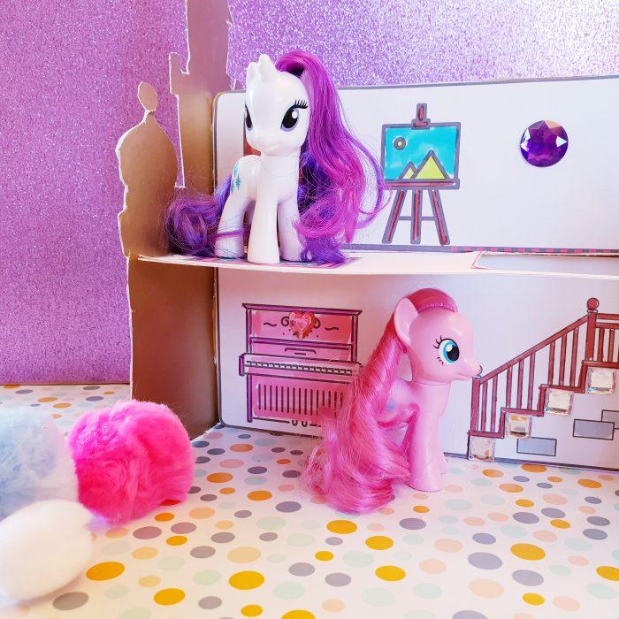 Papierschloss Pony Haus Bastelvorlagen druckvorlage