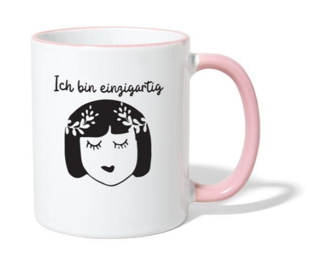 Selbstliebe-Kurs Ich bin einzigartig Tasse
